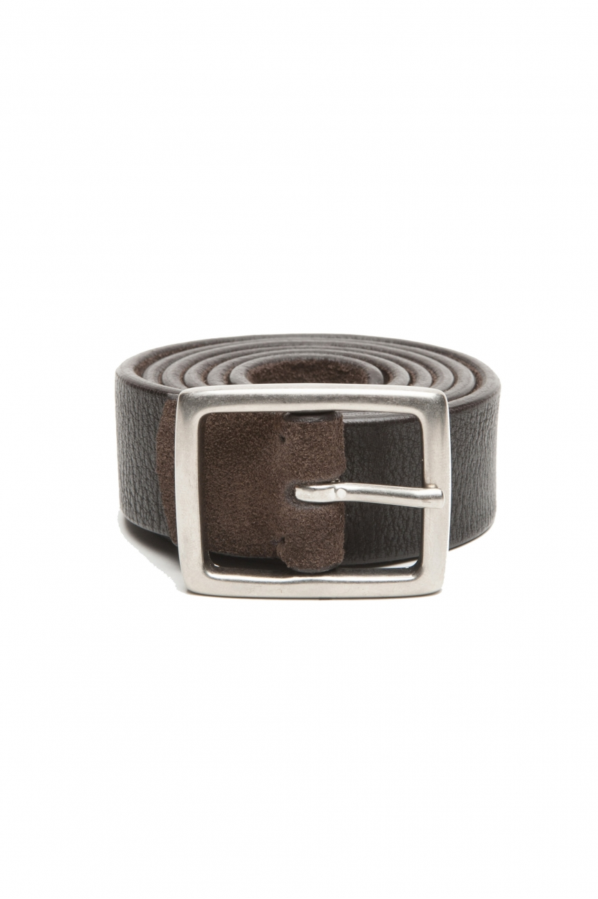 SBU 03008_2020AW Reversible brown and black leather belt 1.2 inches 01