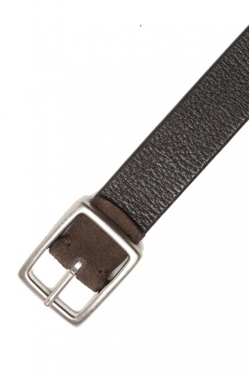 SBU 03008_2020AW Cintura reversibile 3 cm in pelle marrone e nera 01