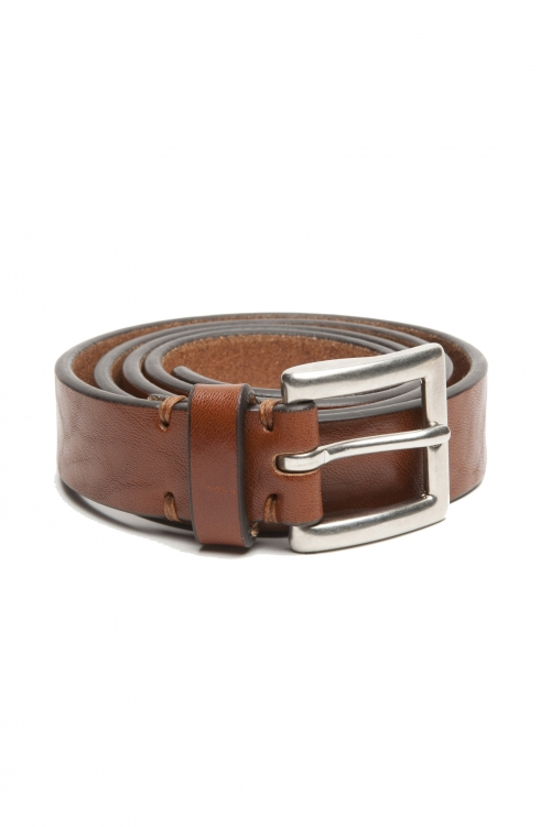 SBU 03015_2020AW Buff bullhide leather belt 0.9 inches cuir 01