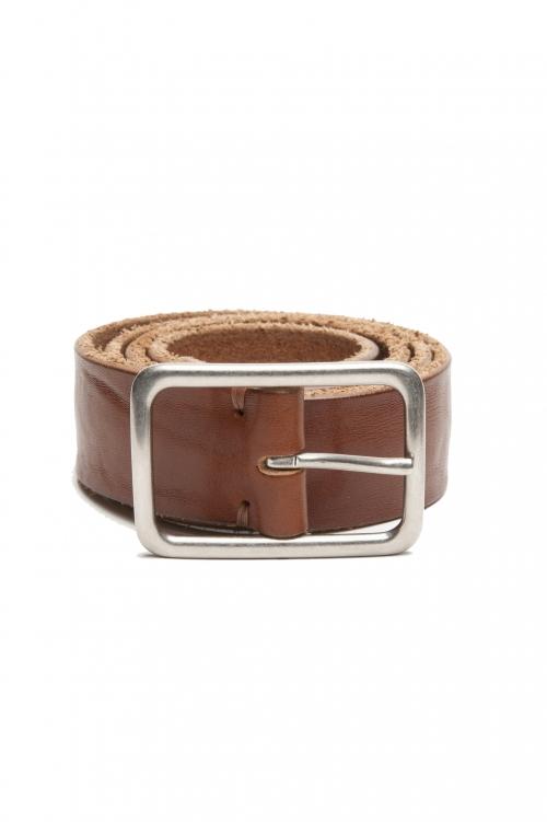 SBU 03018_2020AW Cintura in pelle di toro altezza 3.5 cm color cuoio 01
