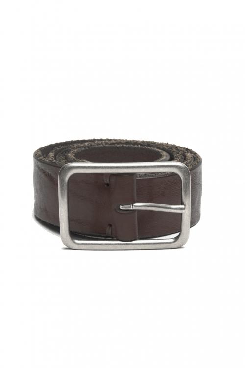 SBU 03019_2020AW Cintura in pelle di toro altezza 3.5 cm marrone 01