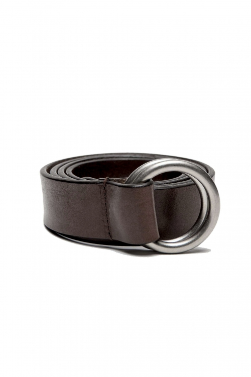 SBU 03025_2020AW 象徴的な茶色の革3センチメートルのベルト 01