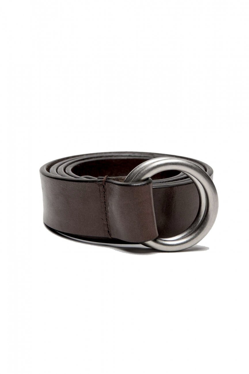 SBU 03025_2020AW Iconic brown leather 1.2 inches belt 01