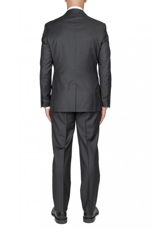 SBU 03039_2020AW Blazer et pantalon de costume gris en fresco de laine pour hommes 01