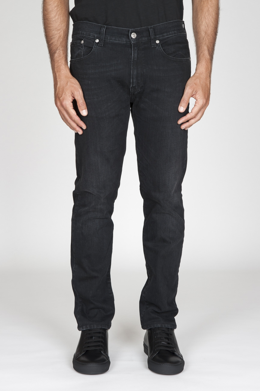 SBU - Strategic Business Unit - Jeans Tinto China In Stretch Denim Giapponese Stone Washed Nero
