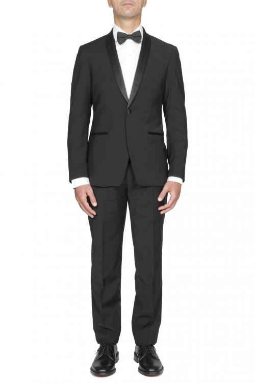 SBU 03042_2020AW Chaqueta y pantalón de esmoquin en lana negro 01