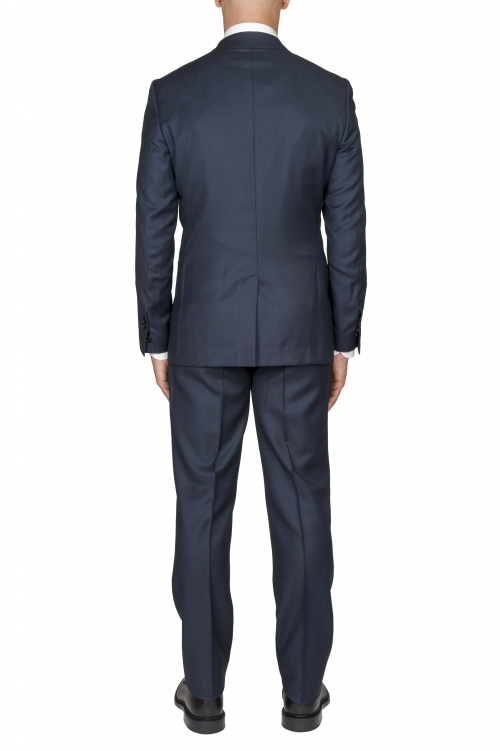 SBU 03047_2020AW Abito blue navy in fresco lana completo giacca e pantalone occhio di pernice 01