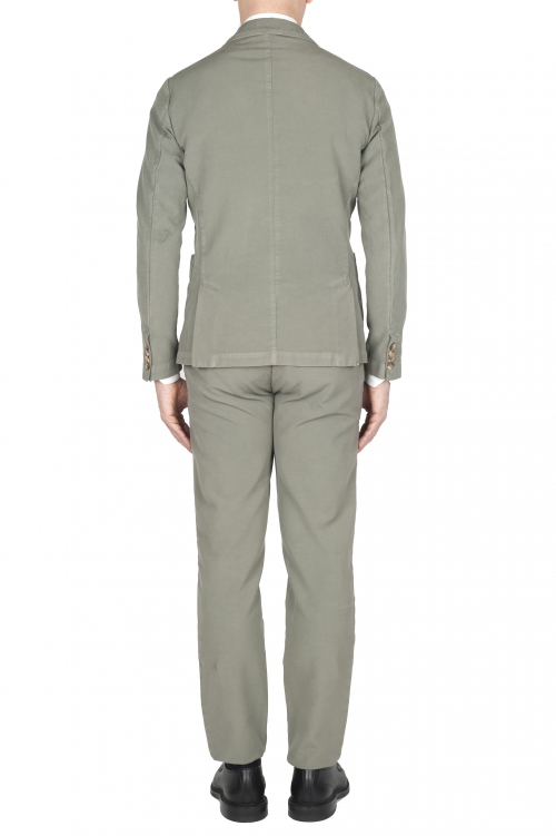 SBU 03054_2020AW Blazer y pantalón de traje deportivo de algodón verde 01