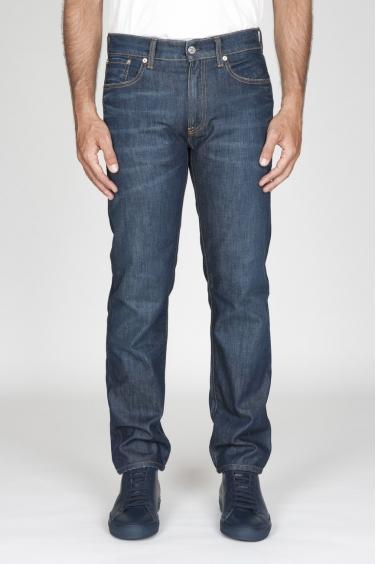 SBU - Strategic Business Unit - Jeans Cotone Tinto Indaco Denim Giapponese Stone Washed Blue