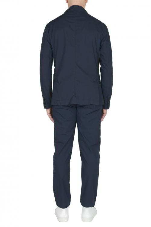 SBU 03056_2020AW Chaqueta y pantalón de traje deportivo de algodón azul marino 01