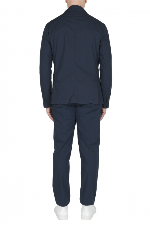 SBU 03056_2020AW Navy blue cotton sport suit blazer and trouser 01