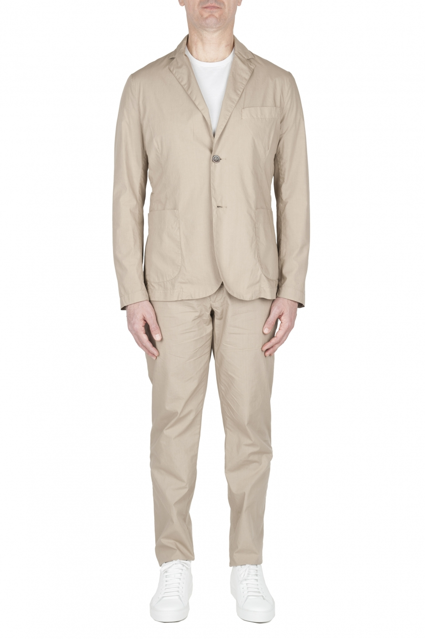 SBU 03057_2020AW Cotton sport suit blazer and trouser beige 01
