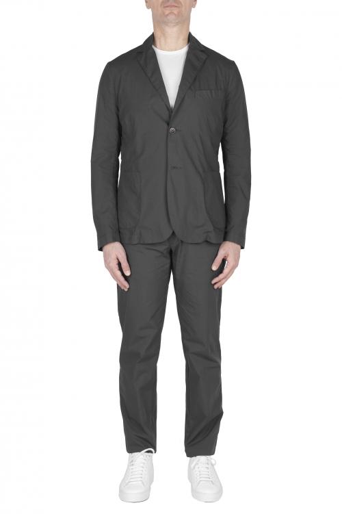SBU 03058_2020AW Blazer et pantalon de sport en coton gris foncé 01