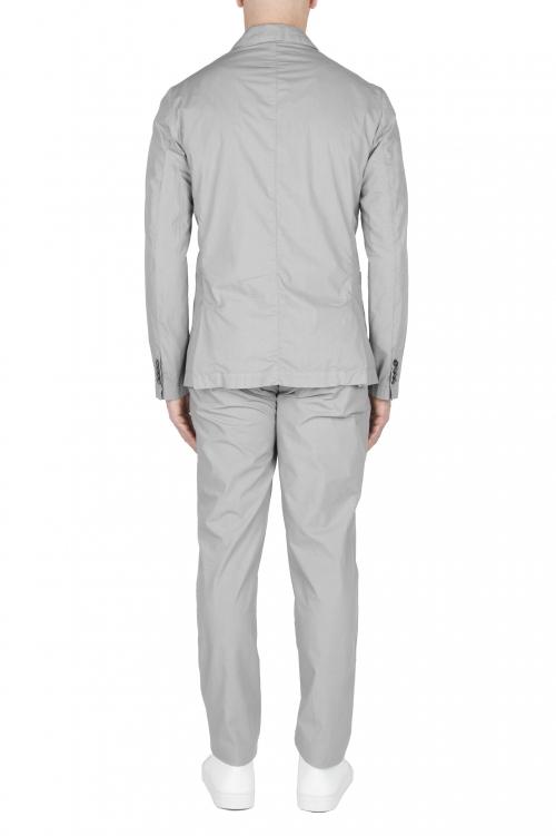 SBU 03060_2020AW Chaqueta y pantalón de traje deportivo de algodón gris claro 01