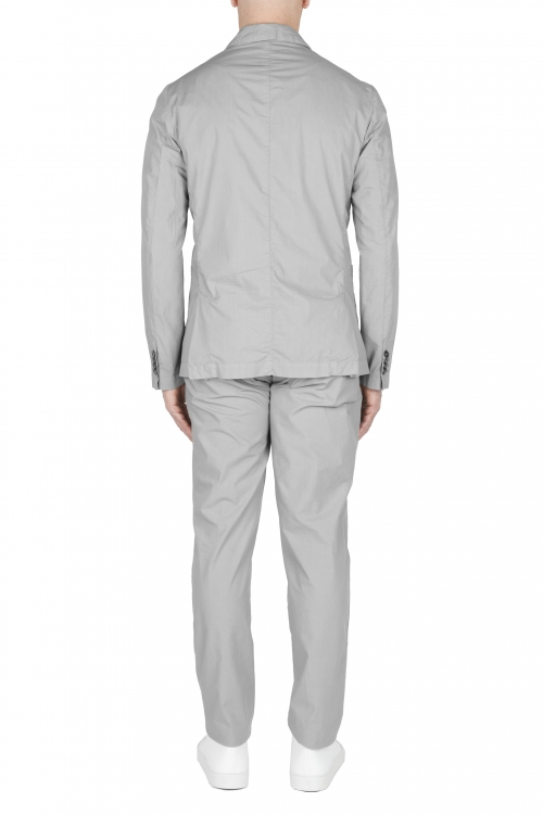 SBU 03060_2020AW Light grey cotton sport suit blazer and trouser 01