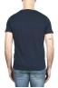 SBU 03062_2020AW Flamed cotton scoop neck t-shirt blue navy 05