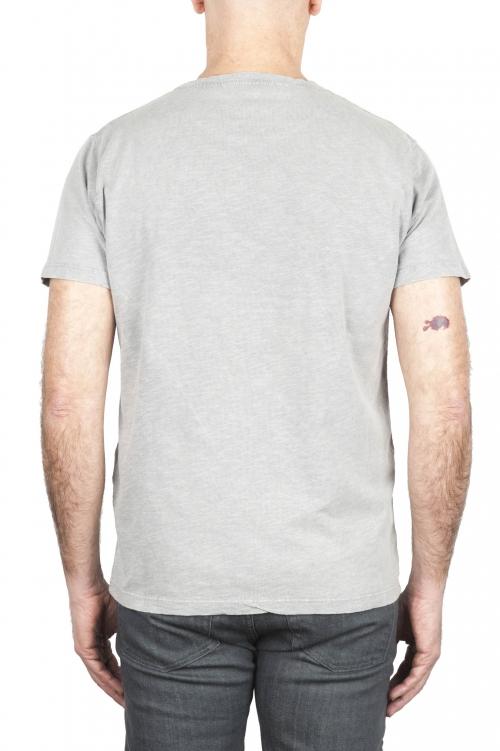 SBU 03063_2020AW Camiseta de algodón con cuello redondo en color gris perla 01