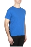 SBU 03064_2020AW Flamed cotton scoop neck t-shirt China blue 02