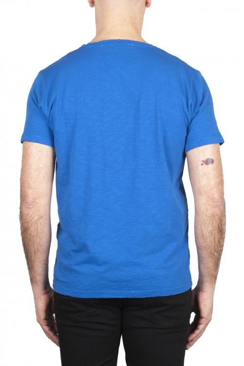 SBU 03064_2020AW Camiseta de algodón con cuello redondo en color azul china 01