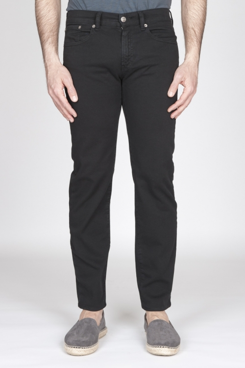 Black Overdyed Stretch Bull Denim Jeans