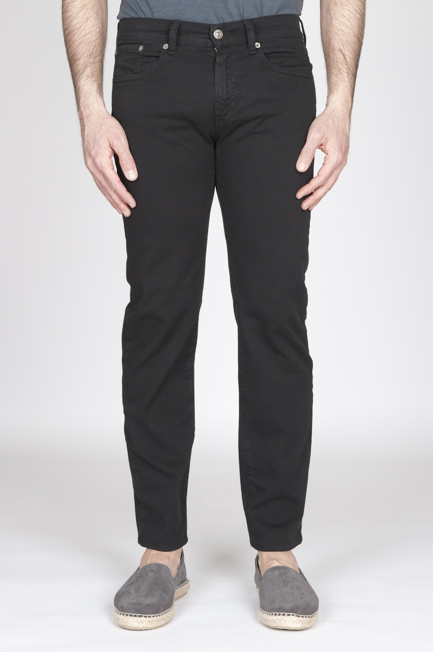 SBU - Strategic Business Unit - Black Overdyed Stretch Bull Denim Jeans