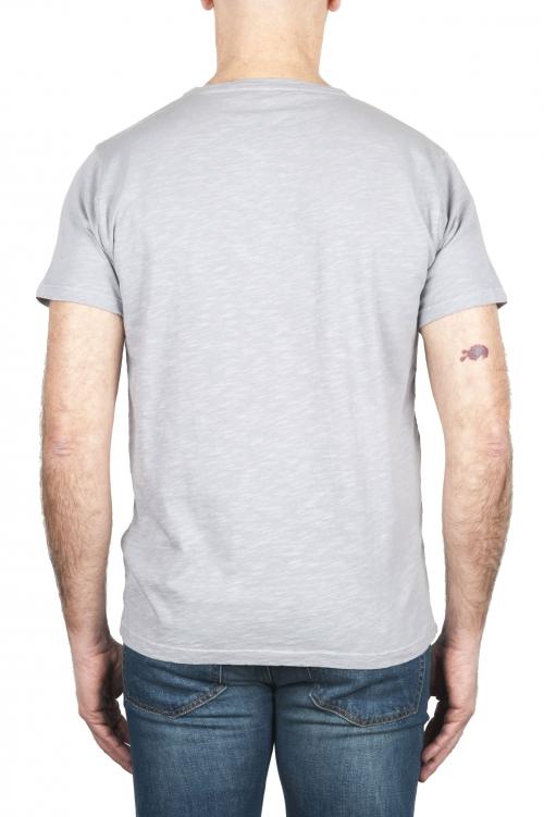 SBU 03068_2020AW T-shirt à col rond en coton flammé gris 01