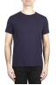 SBU 03071_2020AW Flamed cotton scoop neck t-shirt purple 01
