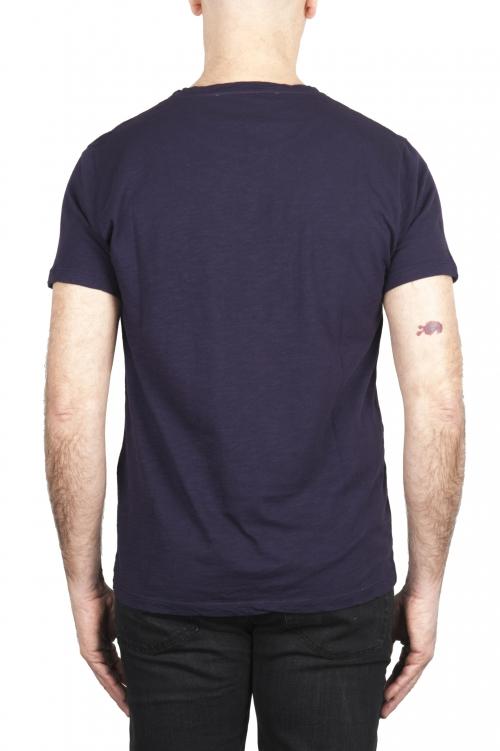 SBU 03071_2020AW T-shirt à col rond en coton flammé violet 01