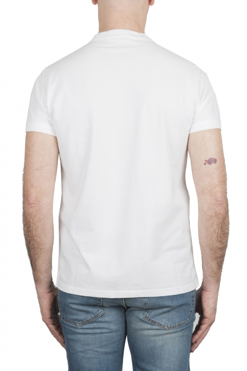 SBU 03075_2020AW T-shirt classique en coton piqué blanc 01