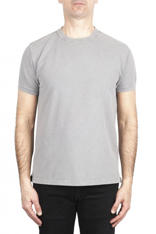 SBU 03079_2020AW Camiseta clásica de piqué de algodón gris 01