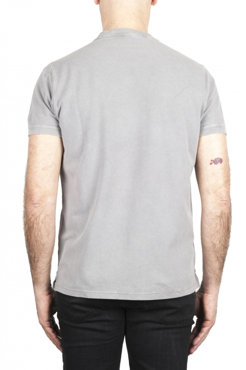 SBU 03079_2020AW T-shirt girocollo in cotone piqué grigia 01