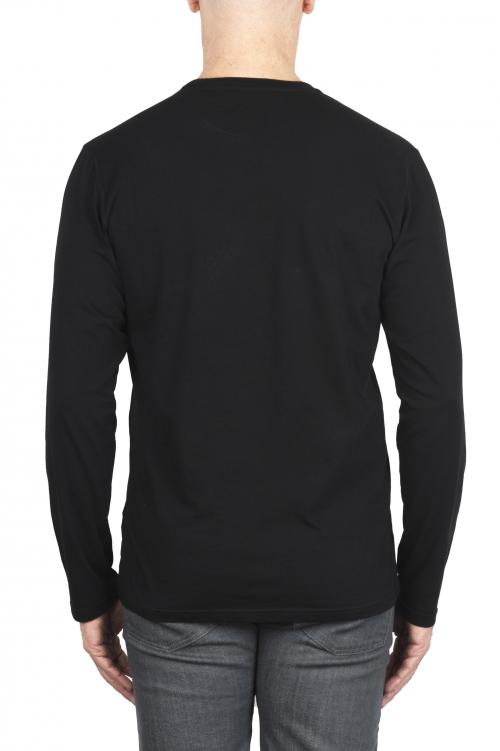 SBU 03083_2020AW T-shirt girocollo a maniche lunghe in cotone nera 01