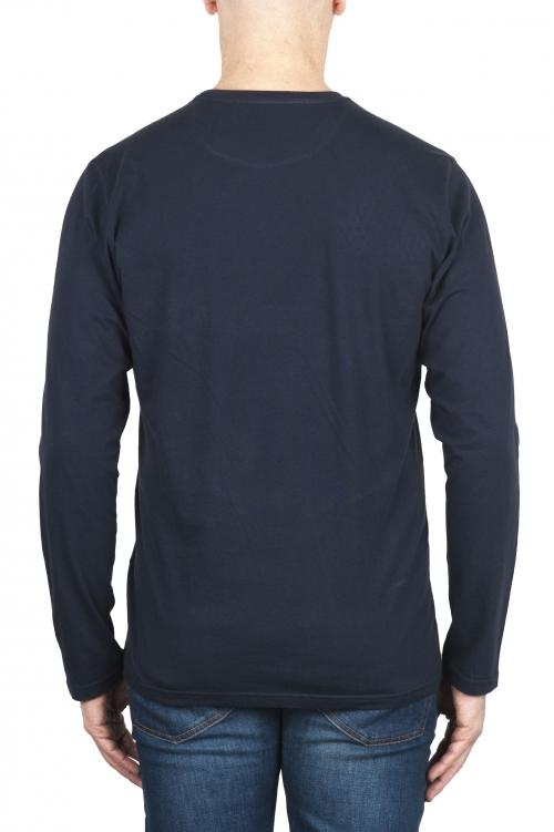 SBU 03084_2020AW T-shirt classique en jersey de coton à manches longues bleu 01