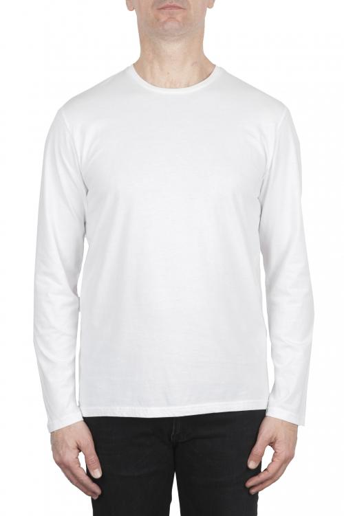 SBU 03085_2020AW T-shirt girocollo a maniche lunghe in cotone bianca 01