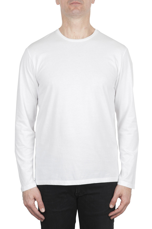SBU 03085_2020AW Cotton jersey classic long sleeve t-shirt white 01