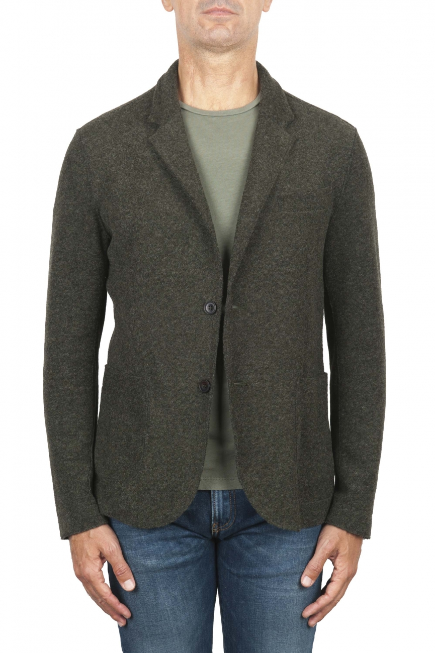 SBU 03086_2020AW Green wool blend sport jacket unconstructed and unlined 01