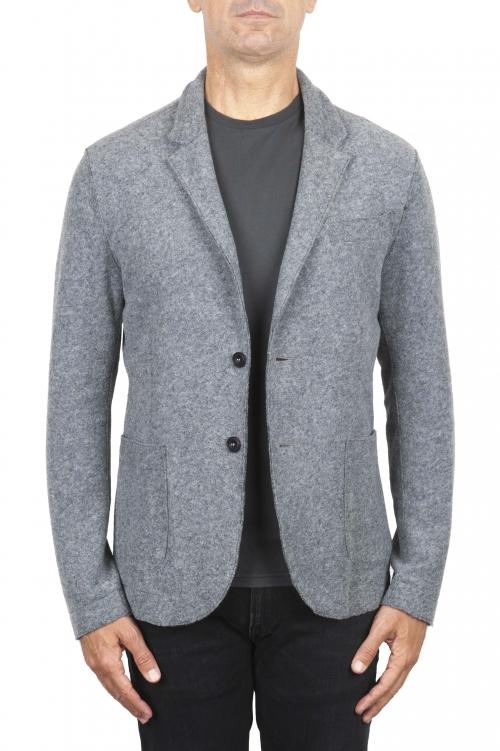SBU 03088_2020AW Blazer decostruito sfoderato in misto lana grigio 01