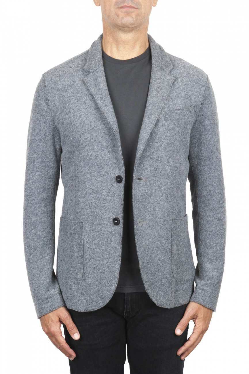 SBU 03088_2020AW Grey wool blend sport jacket unconstructed and unlined 01