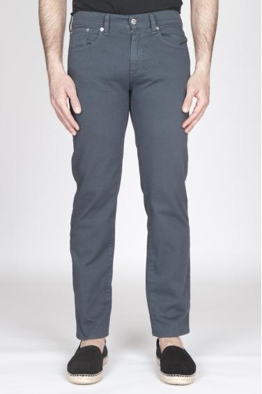 SBU - Strategic Business Unit - Jeans In Bull Denim Sovrattinto Elasticizzato Grigio