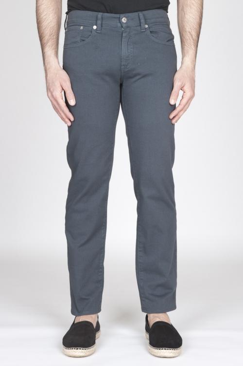 SBU - Strategic Business Unit - Grey Overdyed Stretch Bull Denim Jeans