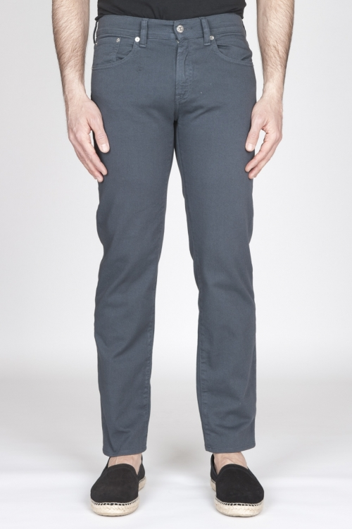 SBU - Strategic Business Unit - Jeans In Bull Denim Sovrattinto Elasticizzato Grigio