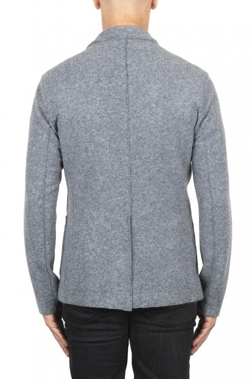 SBU 03088_2020AW Veste de sport gris en laine mélangée non confectionnée et non doublée 01