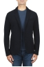SBU 03090_2020AW Navy blue wool blend sport jacket unconstructed and unlined 01
