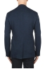 SBU 03092_2020AW Blue wool and cotton blazer unconstructed and unlined 05