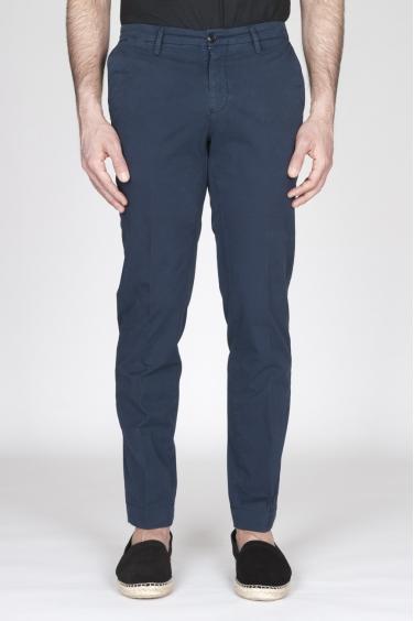 SBU - Strategic Business Unit - Pantaloni Chino Regular Fit Classici In Cotone Stretch Navy Blue