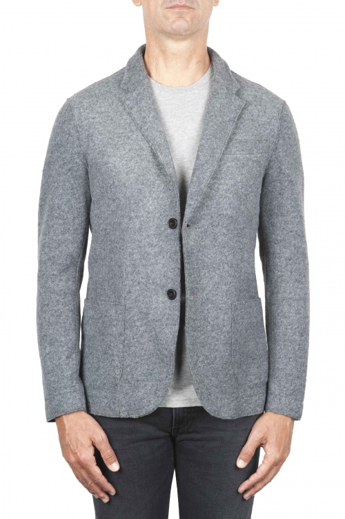 SBU 03099_2020AW Grey wool blend sport jacket unconstructed and unlined 01