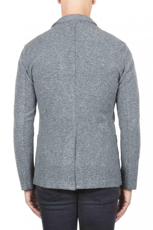 SBU 03099_2020AW Chaqueta deportiva gris en mezcla de lana desestructurada y sin forro 01