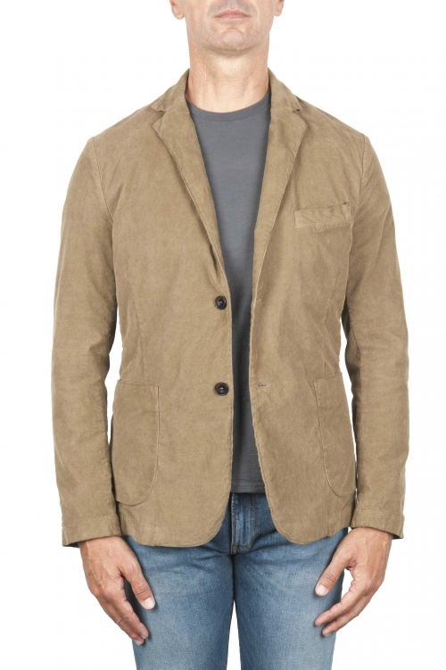 SBU 03101_2020AW Stretch cotton sport blazer beige unconstructed and unlined 01