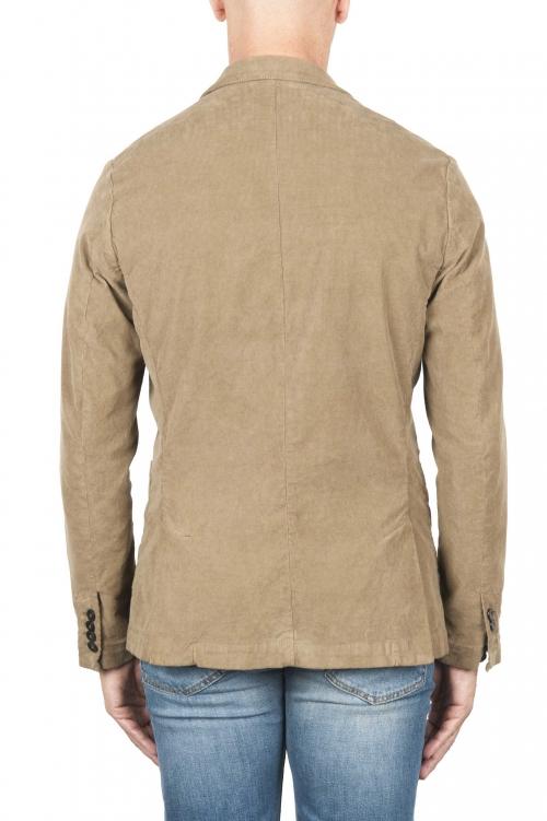 SBU 03101_2020AW Blazer de sport beige en coton stretch non structuré ni doublé 01