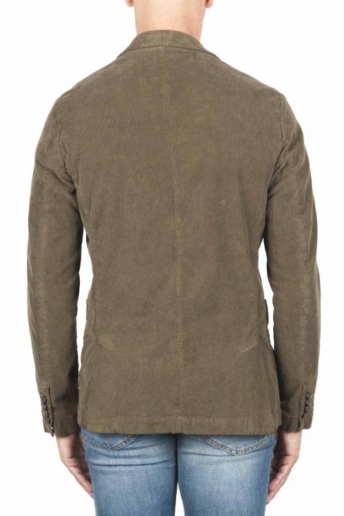 SBU 03103_2020AW Blazer de sport vert en coton stretch non structuré ni doublé 01